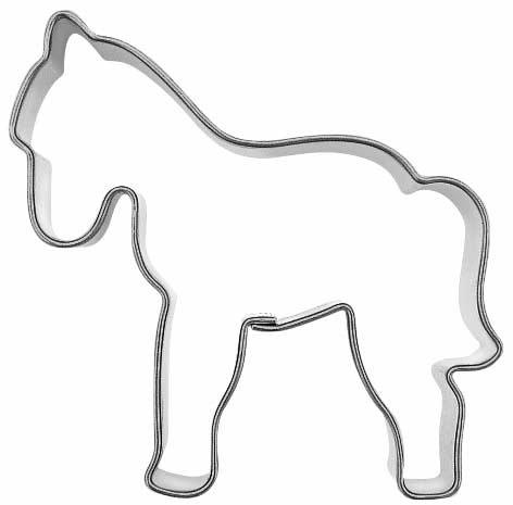 Paarden In De Stal Kleurplaten Udstikker Kageform Hest